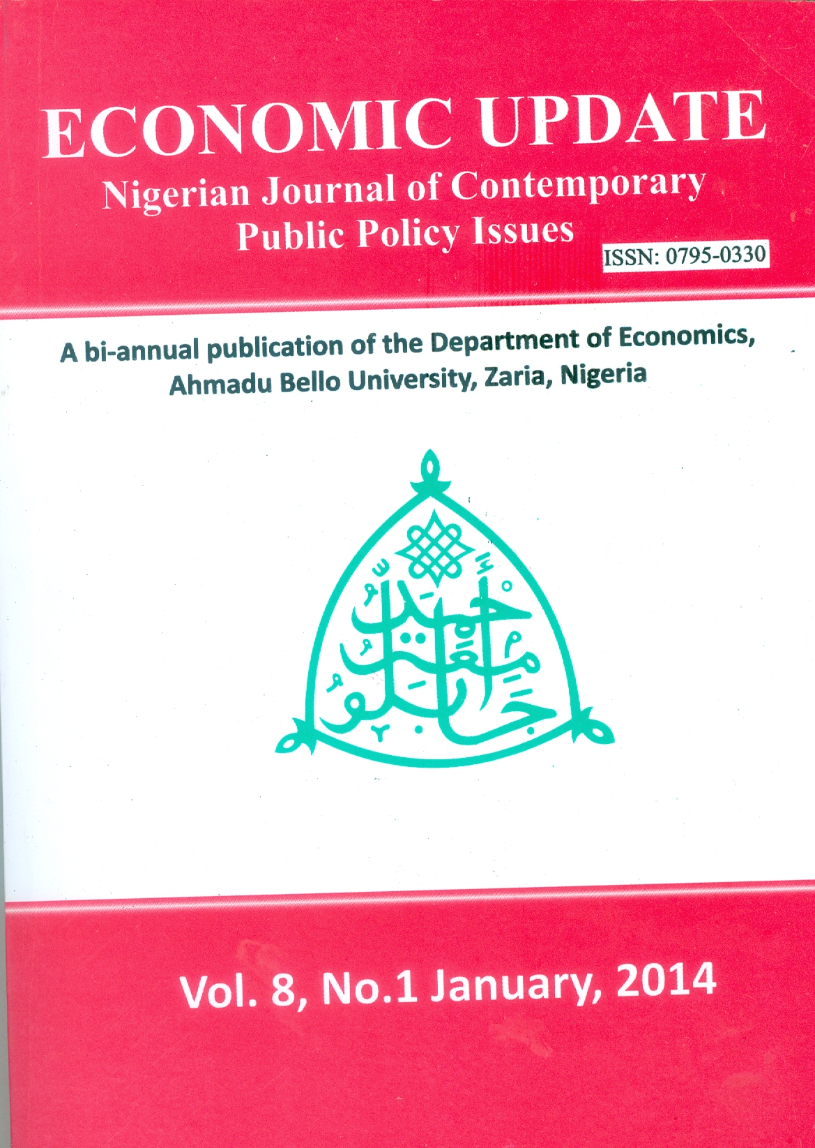 NIGERIAN JOURNAL OF CONTEMPORARY PUBLIC POLICY